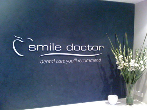 Smile Doctor Reception Sign