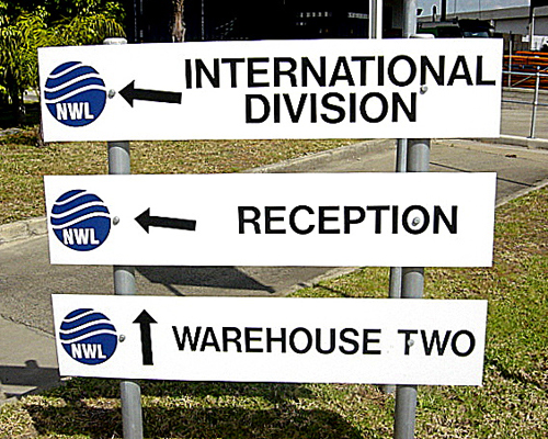 Building direction Signs 2