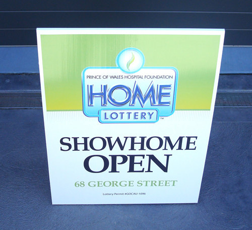 Home Lottery Sign